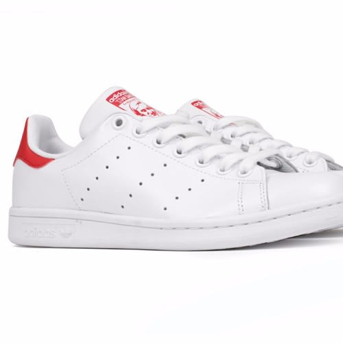 brand new 50166 5a270 Sneakers by Stan Smith - White & Red