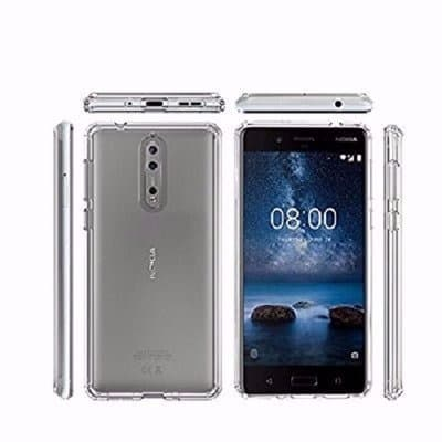 purchase cheap df667 e04b5 Soft Silicone Protective Back Case for Nokia 8 - Clear