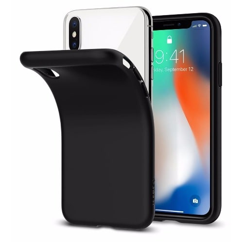 low priced f5857 0db30 Soft Silicone Protective TPU Back Case For iPhone X - Black