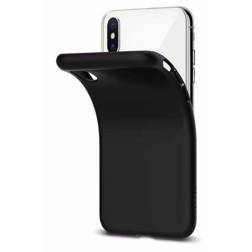 low priced 43f8f 50853 Soft Silicone Protective TPU Back Case For iPhone X - Black