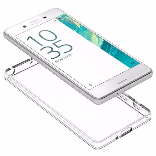 buy online c8908 4ebde Soft Tranparent Jelly Back Case for Sony Xperia X