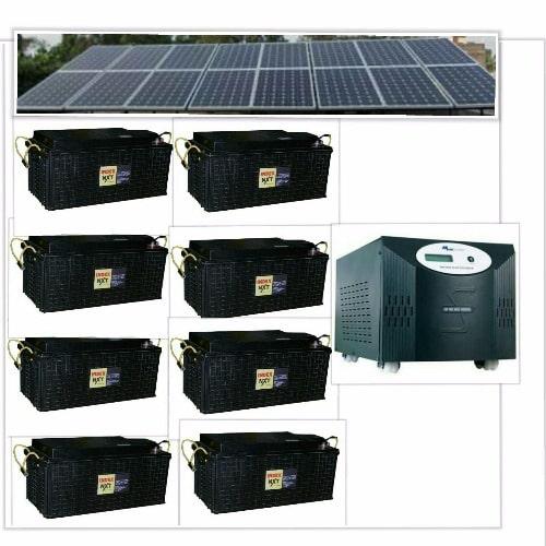Solar Powered 5kva Inverter Installation with 8 Index Batteries & 16 Panels