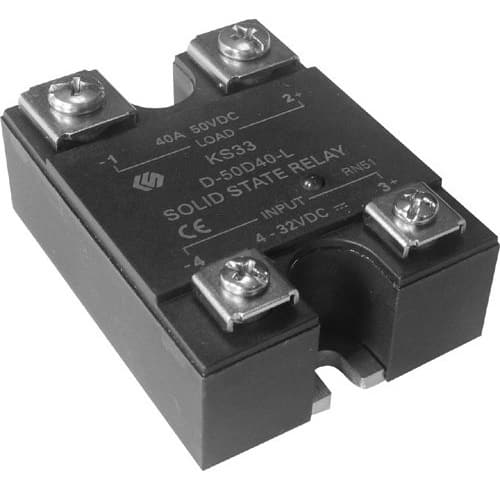 Solid State Relay: 3-32V DC, Load 40A 480V AC