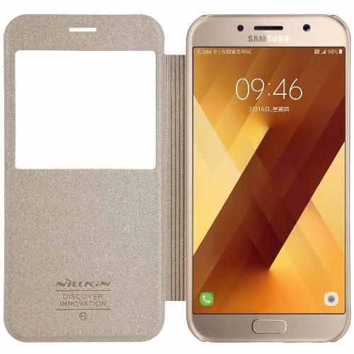 super popular 92703 668ca Sparkle Flip Case for Samsung Galaxy A5 2017-Gold