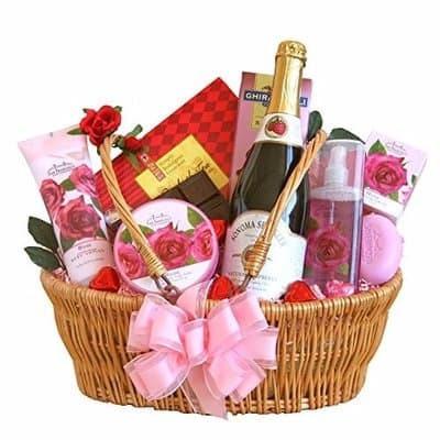 Christmas Hamper Basket.Sparkling Hamper Spa Gift Basket