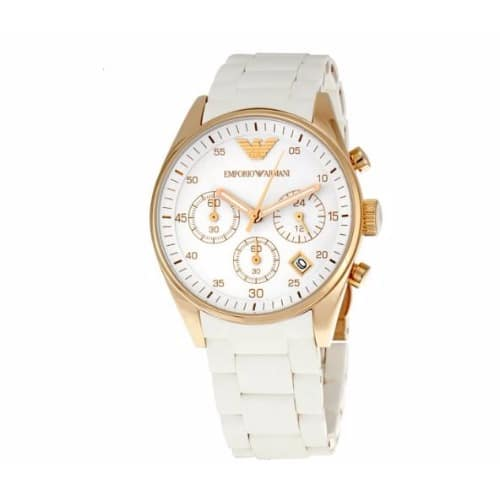 98fa3f4e9 Emporio Armani Sportivo Gold Bezel Chronograph Ladies Watch | Konga ...