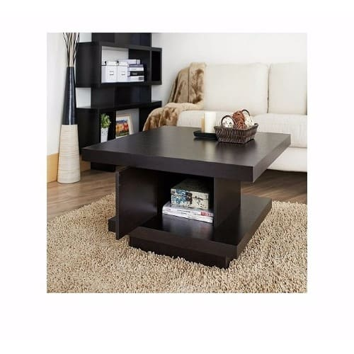 Square Coffee Center Table With Storage Brown Konga Online Shopping