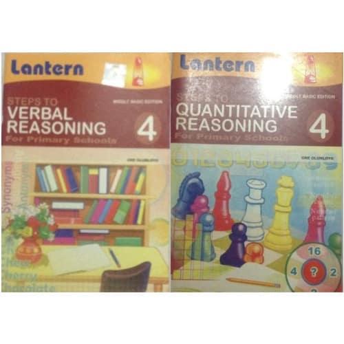 Steps To Verbal Reasoning Book 4 + Steps to Quantitative Reasoning Book 4.