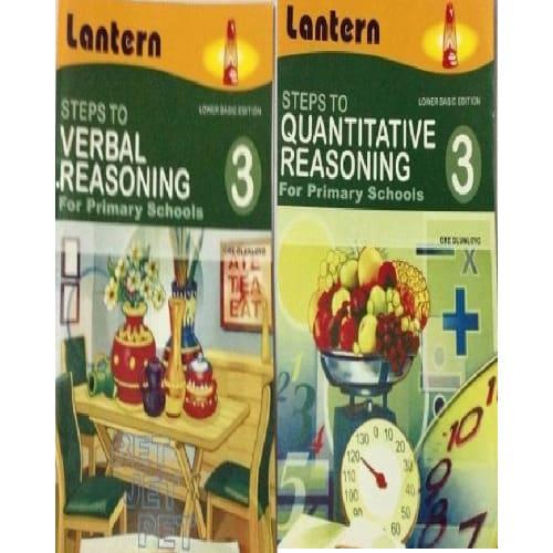 Steps to Verbal Reasoning Book 3 + Steps to Quantitative Reasoning Book 3.