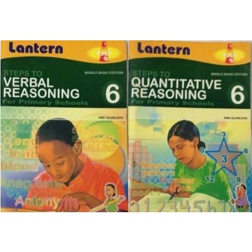 Steps to Verbal Reasoning Book 6 + Steps to Quantitative Reasoning Book 6.