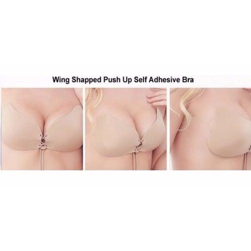 ac405e9f877e9 Strapless Self Adhesive Push-Up Invisible Silicone Bra