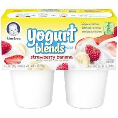 Gerber Strawberry Banana Yogurt Blend Snack For Toddlers 4