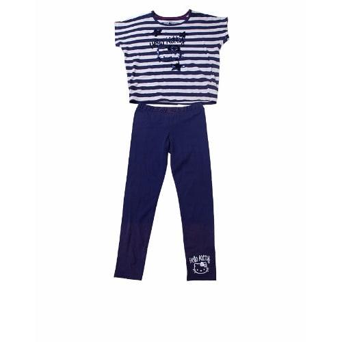 1801e1cee Hello Kitty Striped Top & Leggings 2pc Set - Navy Blue | Konga ...