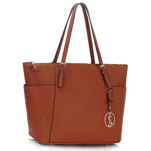 9bab79d7 Structured Large Tote Bag - Brown