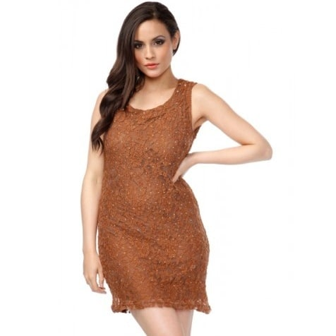 6f096656d77c6 JS Millenium Studded & Encrusted Lace Tunic Dress | Konga Online ...