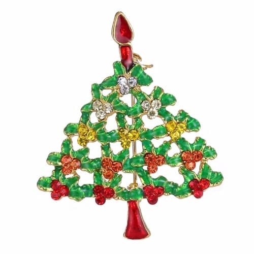 Christmas Brooches And Pins.Stylish Christmas Tree Brooch Pin