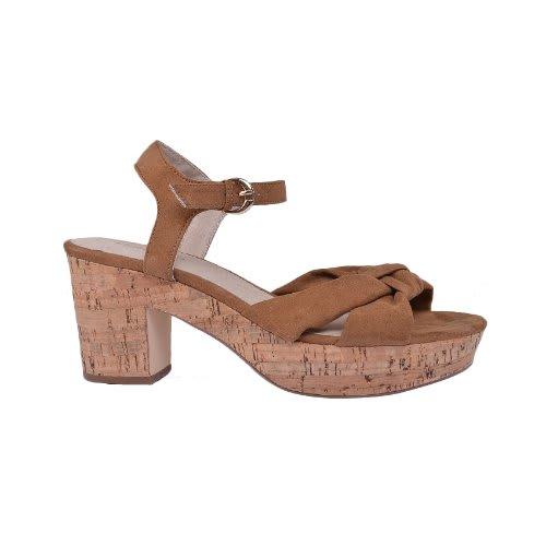 333638c3147 Ladies Open-Toe Block Heel Ankle Strap Sandals - White