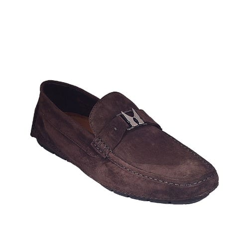Moreschi Suede Casual Loafers - Brown
