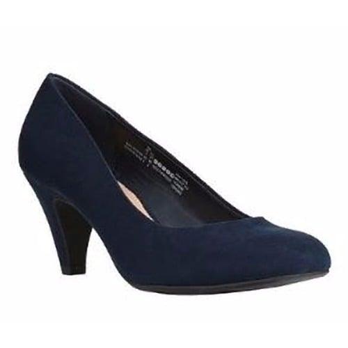 c88efc36c78a6 F & F Suede Mid Heel Pump - Navy Blue   Konga Online Shopping
