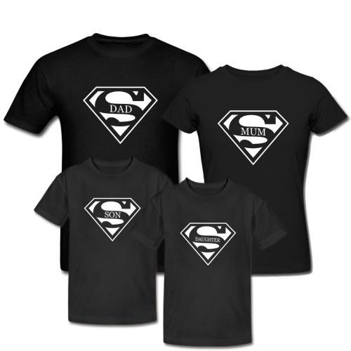 20733e1a Danami Superman Printed Family T Shirts- Black | Konga Online Shopping
