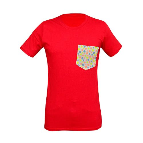 As T Shirt With Pocket Design Red Konga Online Shopping