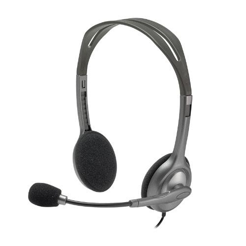 H110 Stereo Headset 3 5mm Dual Plug Computer Headset