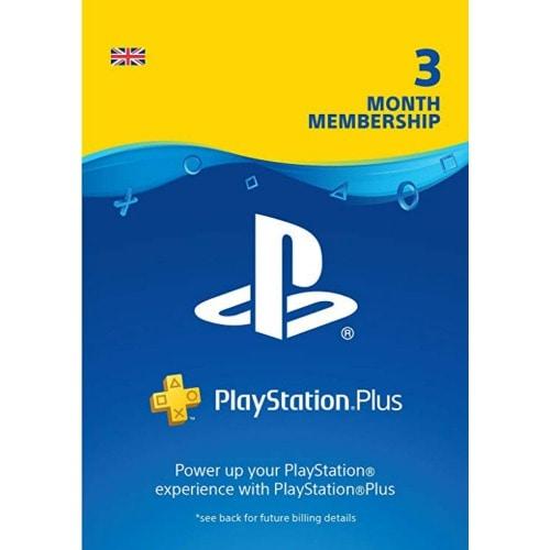 Playstation Plus 3 Month Membership UK PSN Subscription Card
