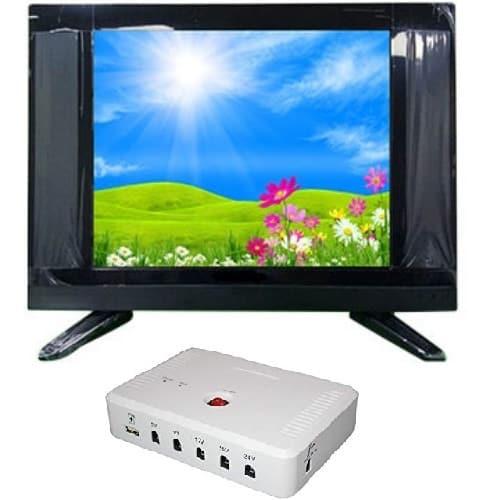 "22"" LED AC DC TV + Solar DC UPS"