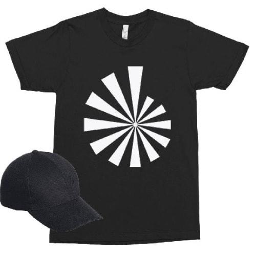 Circular Geometric Design - Black
