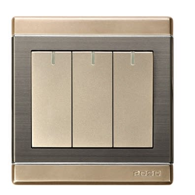 Light Switches - Premium Wall Light Switches - 3 Gang 1 Way