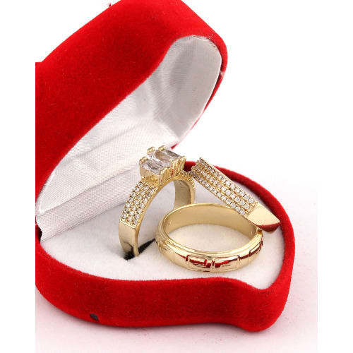712879a209463 Jennifer Gold Wedding Ring Set