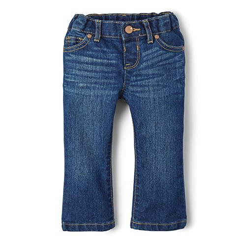 a354ed3ea12 Children's Place Baby And Toddler Girls Basic Bootcut Jeans ...