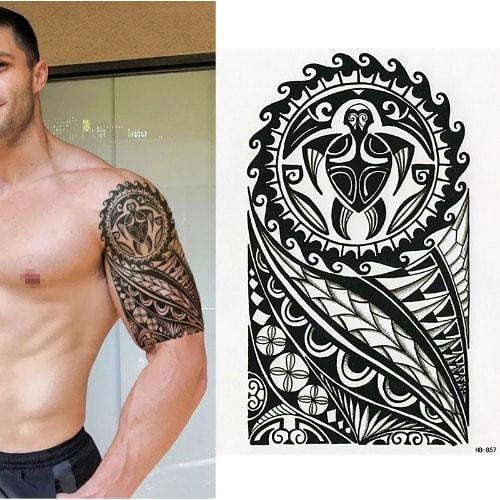 Polynesian Temporary Body Art Tattoo Sticker