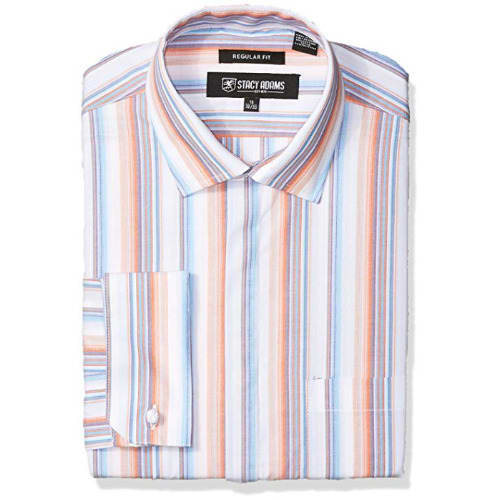 Men's Striped Classic Fit Dress Shirt