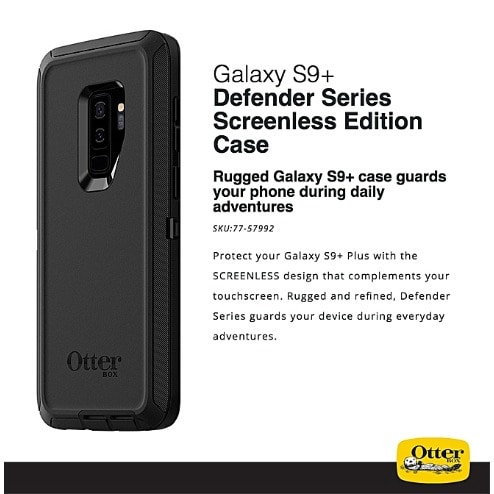pretty nice d0a4c 2e055 S9 Plus Otter Box Rugged Defender Series Back Case For Samsung Galaxy S9  Plus- Black