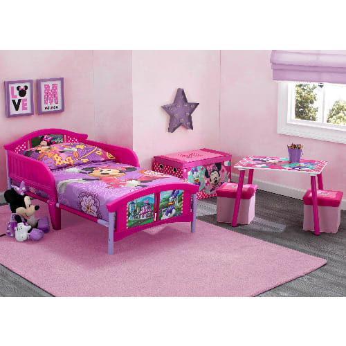 Delta Disney Minnie Mouse 4 Piece Toddler Bed Bedroom Set With Bonus