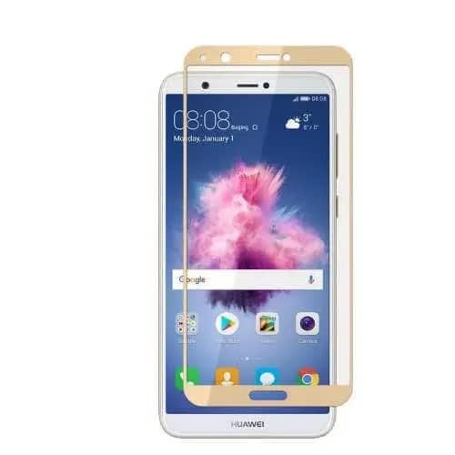 Tempered Glass Screen Protector For Huawei P-smart - Gold