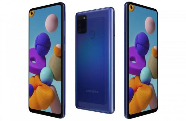 Galaxy A21s-blue-4gb Ram + 64gb Rom, Dual Sim, 13mp, 5000mah.