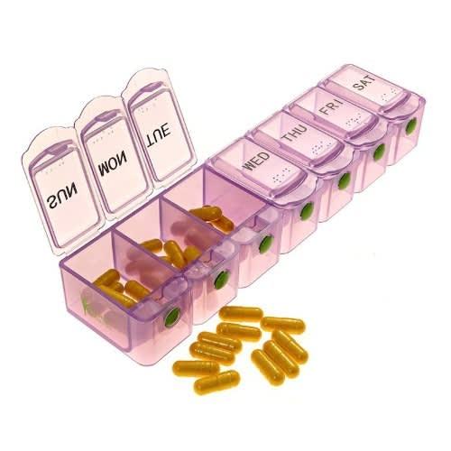 7 Day Pill Box Tablet Dispenser Organizer Case - Pink.
