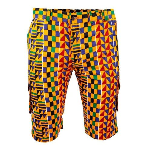 African Print Multi colored Combat Shorts