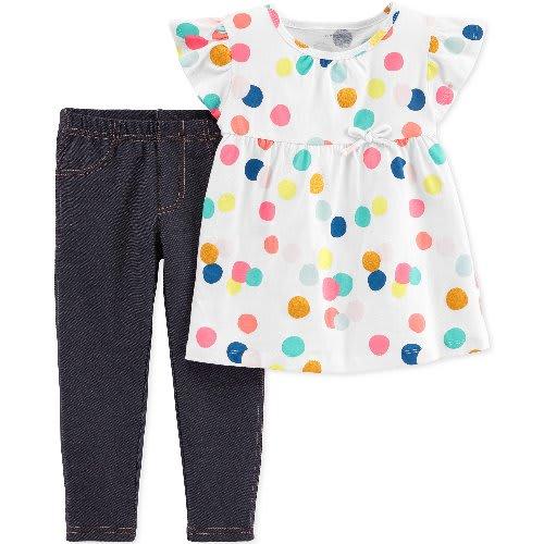 f8ad9ffd30a04 Carter's Toddler Girl Carter's Floral Top & Blue Leggings Set ...