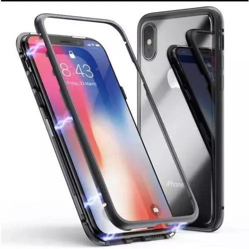 promo code 0233a b056e Magnetic Full Case For Iphone X - Black