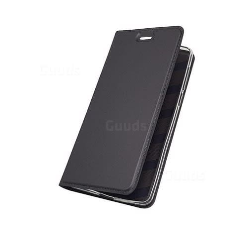 competitive price 794a8 6b236 Leather Flip Case For Nokia 6.1 - Black