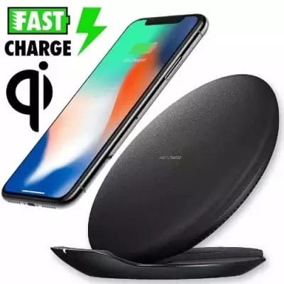 Wireless Pad Fast Qi Charger For Galaxy S9 & S9 Plus - Black