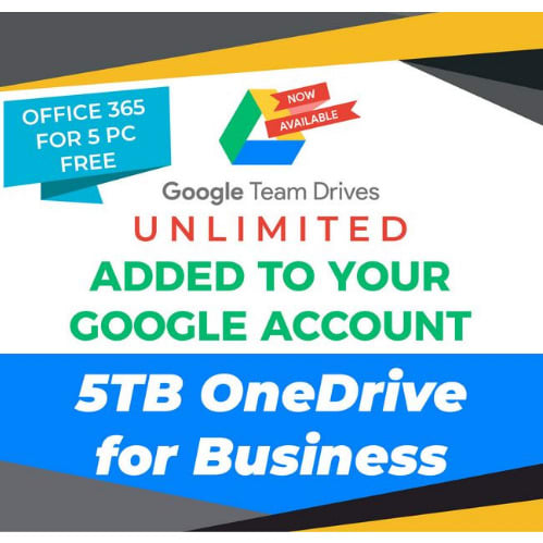 Office 365 Lifetime + Google Drive Unlimited + Onedrive 5tb