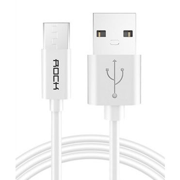 1M Micro USB Charger & Data Cable - White