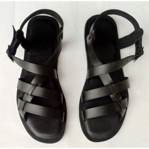 3817e01c30e Tee-Mask Men's Leather Sandals - Black