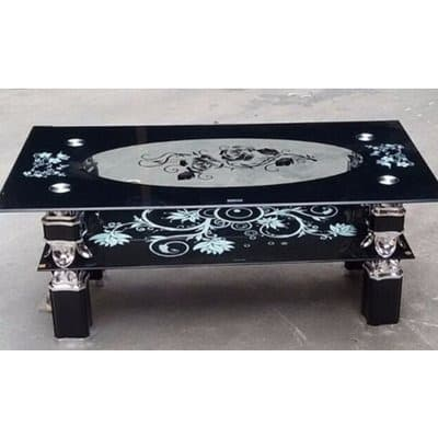 Tempered Glass Oval Center Table Black Konga Online Shopping