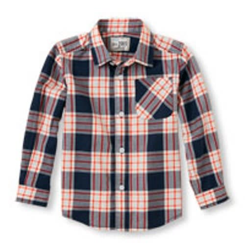 7c962ac89 The Childrens Place Toddler Boys' Long Sleeve Button-Down Poplin ...