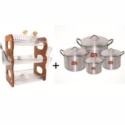 /T/o/Tower-Gold-Cooking-Pots-Set---4-Pieces-and-3-Tier-Plate-Rack-6791834.jpg